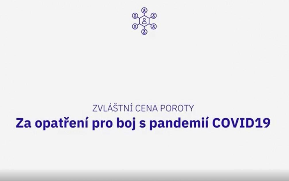 """Zvláštní cena poroty """"Za opatření pro boj s pandemií COVID-19"""