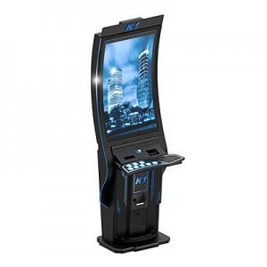 """Curved Screen K1: tento stroj se vyznačuje novým pojetím zobrazování obsahu, vzhledem kpoužité prohnuté 43"""" obrazovce"""